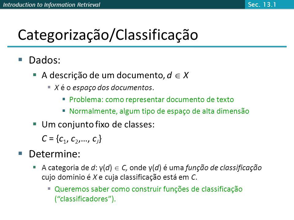 Categorização/Classificação