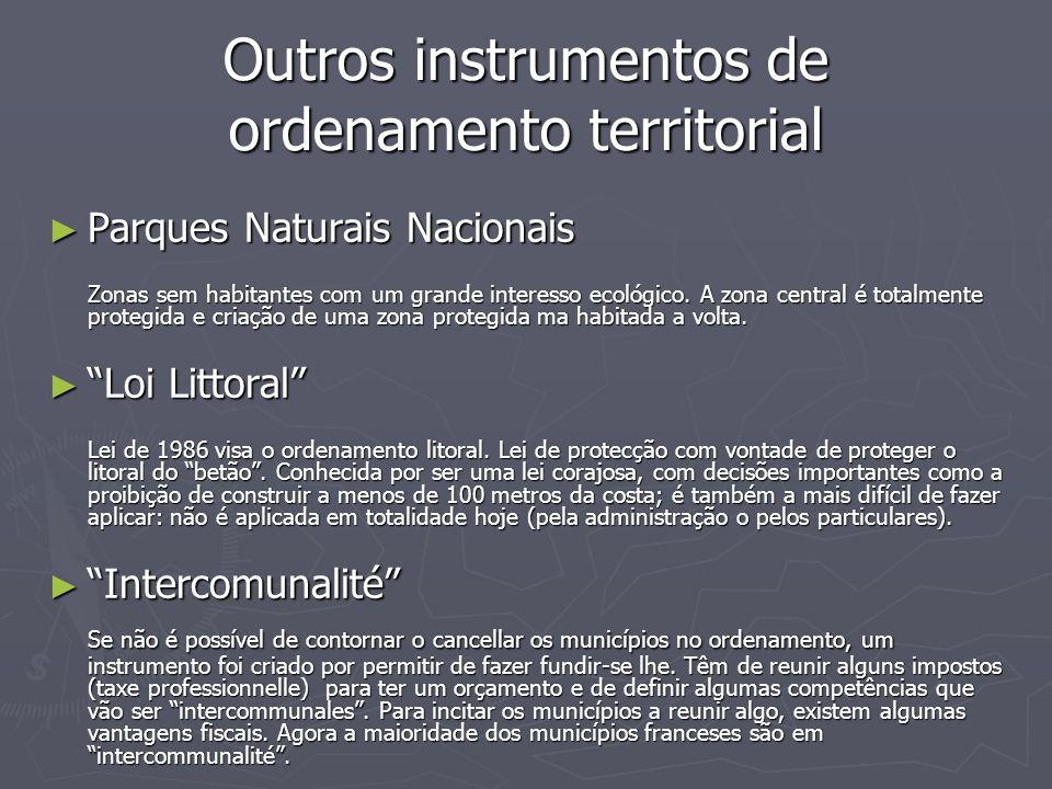 Outros instrumentos de ordenamento territorial