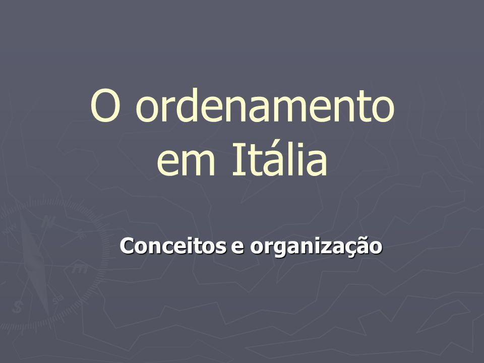 O ordenamento em Itália