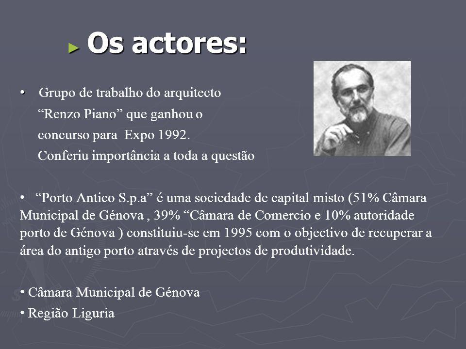 Os actores: Grupo de trabalho do arquitecto Renzo Piano que ganhou o