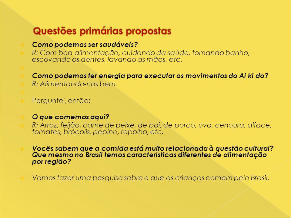Questões primárias propostas