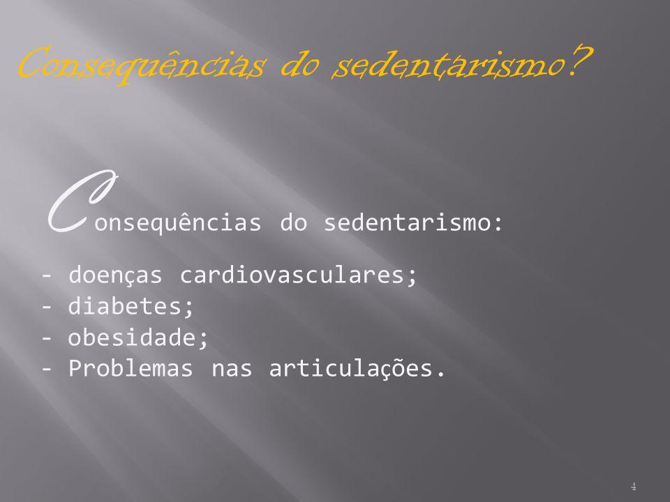 Consequências do sedentarismo:
