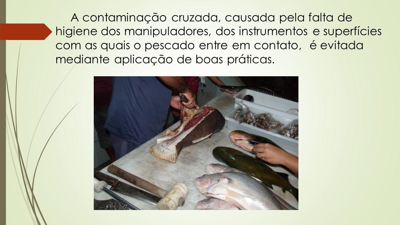 A contaminação cruzada, causada pela falta de higiene dos manipuladores, dos instrumentos e superfícies com as quais o pescado entre em contato, é evitada mediante aplicação de boas práticas.