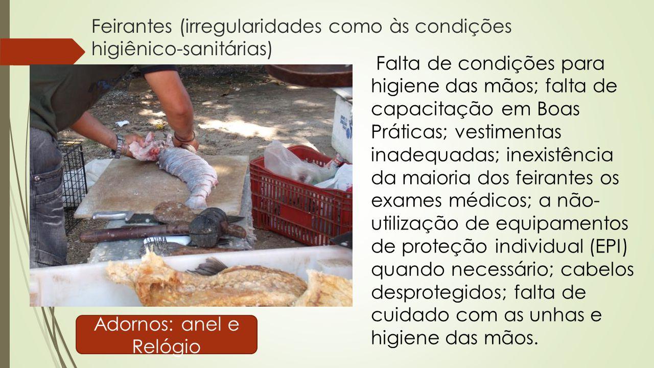Feirantes (irregularidades como às condições higiênico-sanitárias)