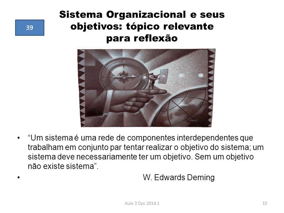 Sistema Organizacional e seus objetivos: tópico relevante para reflexão