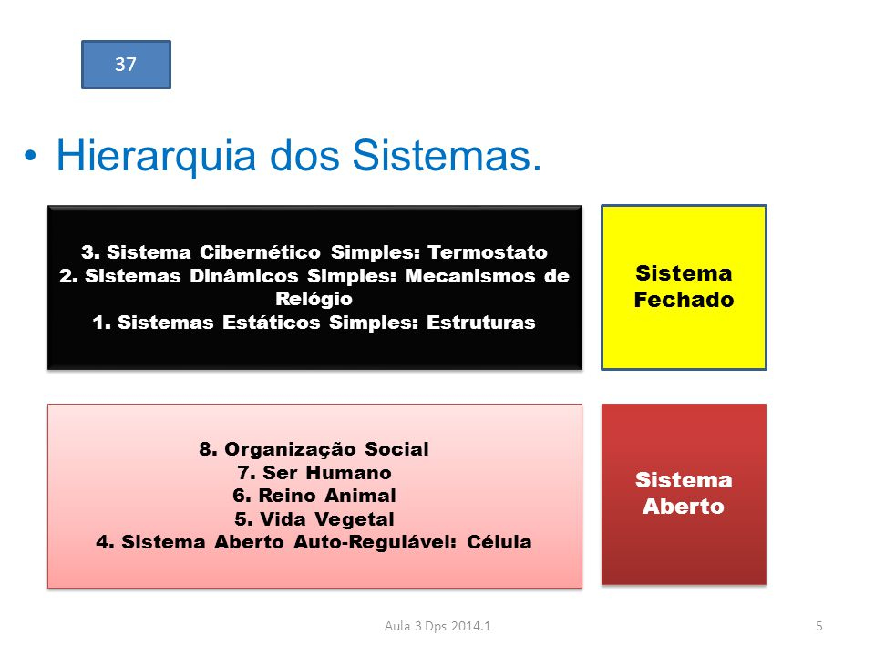 Hierarquia dos Sistemas.