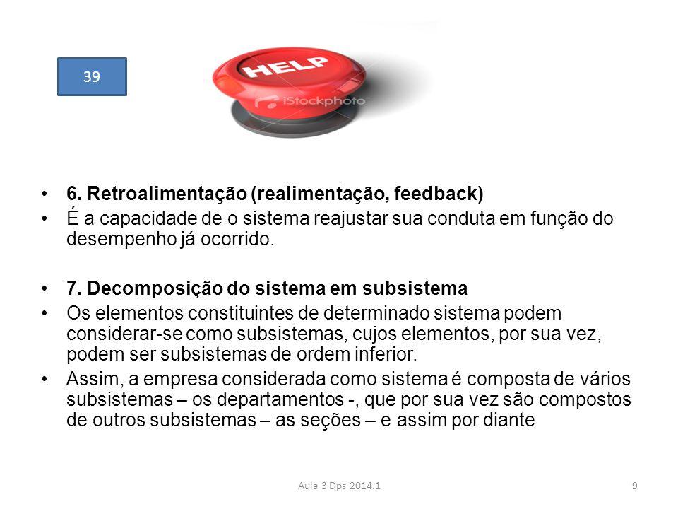 6. Retroalimentação (realimentação, feedback)