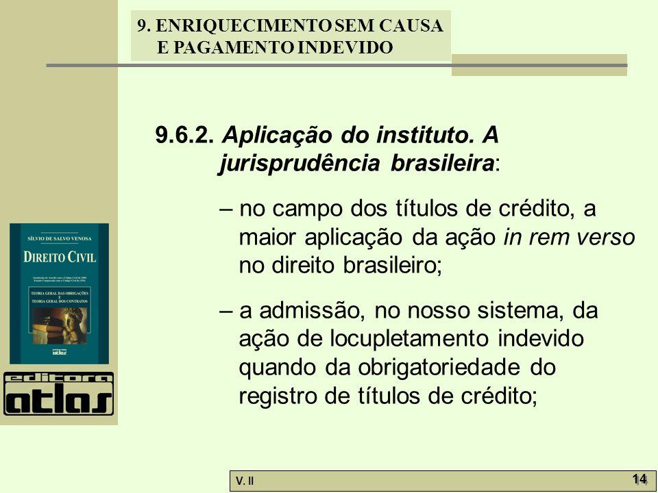 9.6.2. Aplicação do instituto. A jurisprudência brasileira: