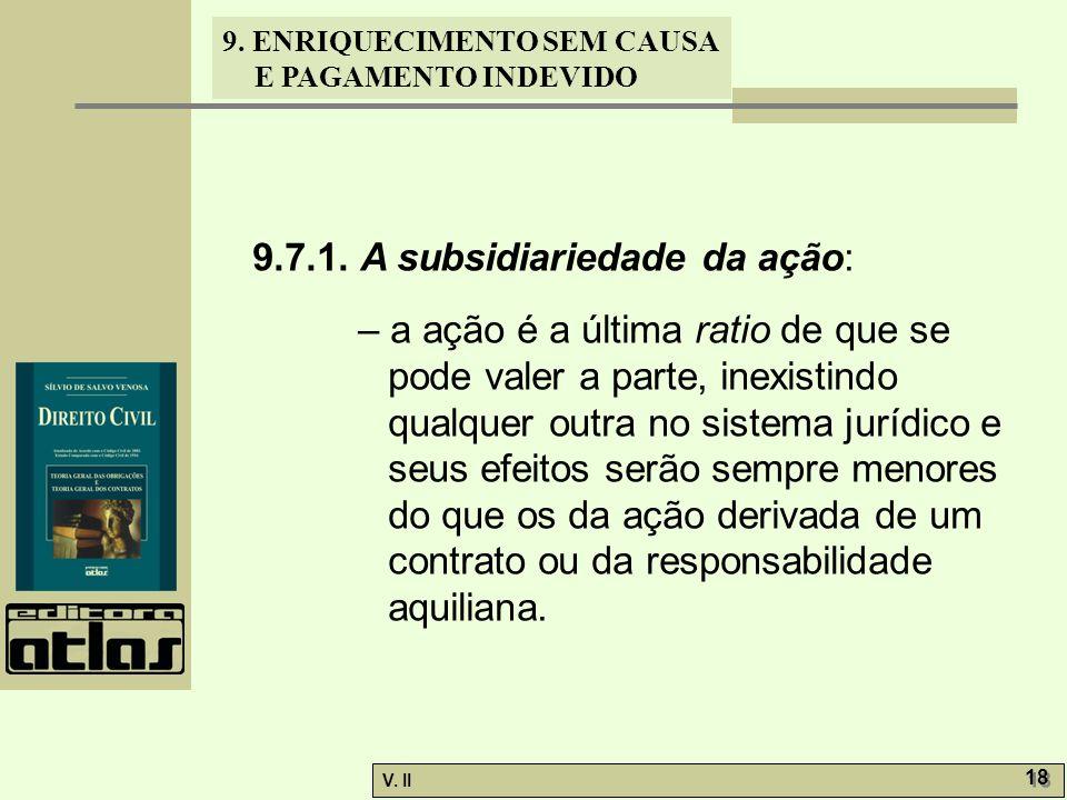 9.7.1. A subsidiariedade da ação:
