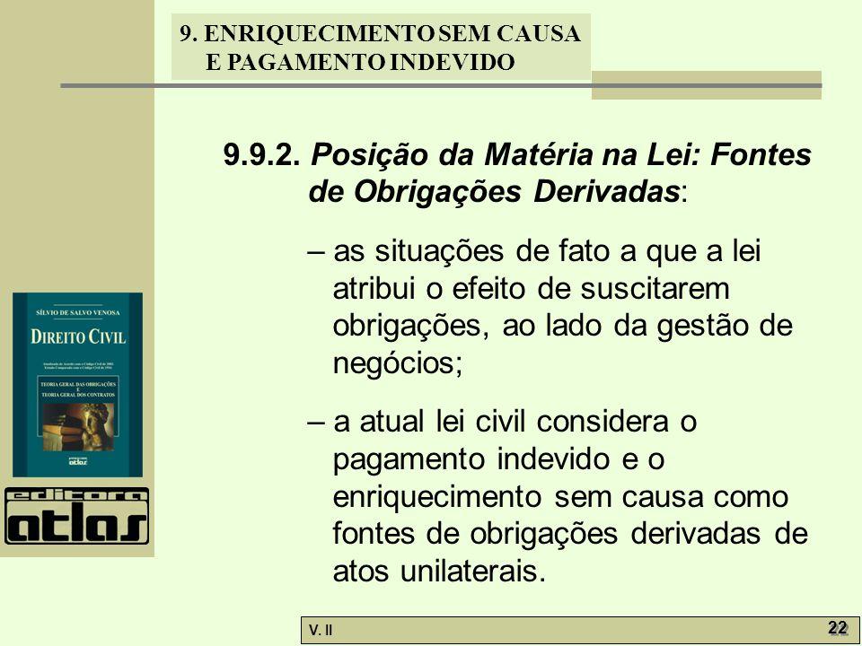 9.9.2. Posição da Matéria na Lei: Fontes de Obrigações Derivadas: