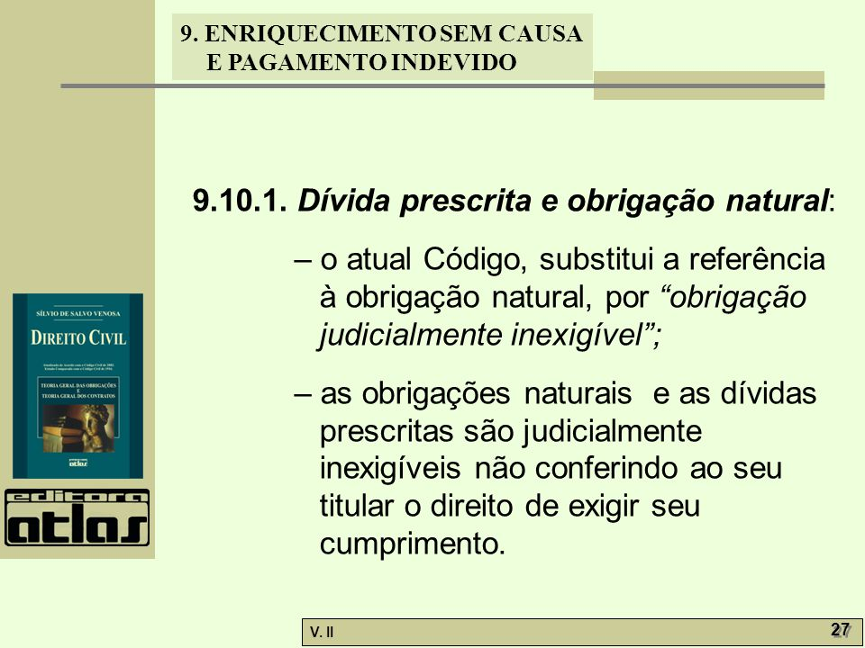 9.10.1. Dívida prescrita e obrigação natural: