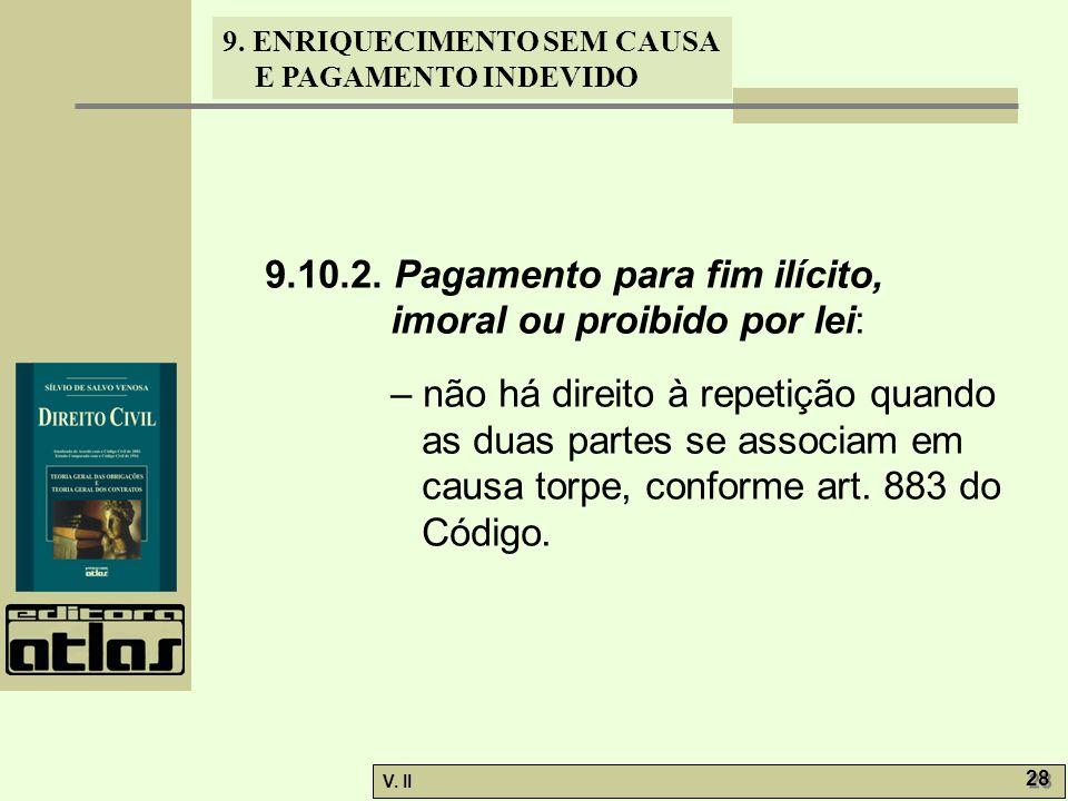 9.10.2. Pagamento para fim ilícito, imoral ou proibido por lei: