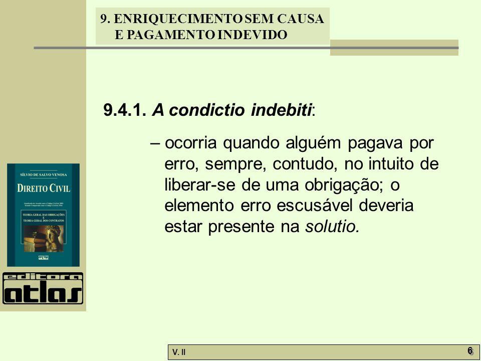 9.4.1. A condictio indebiti: