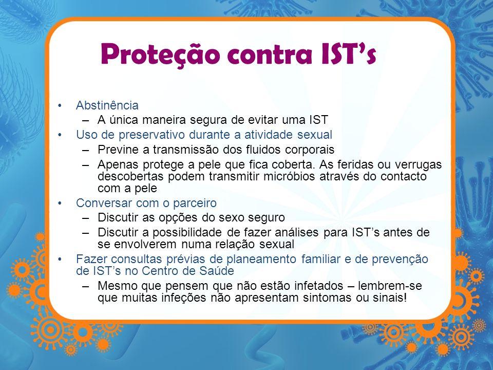 Proteção contra IST's Abstinência