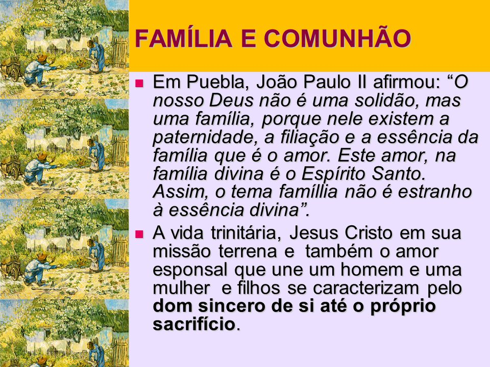 FAMÍLIA E COMUNHÃO