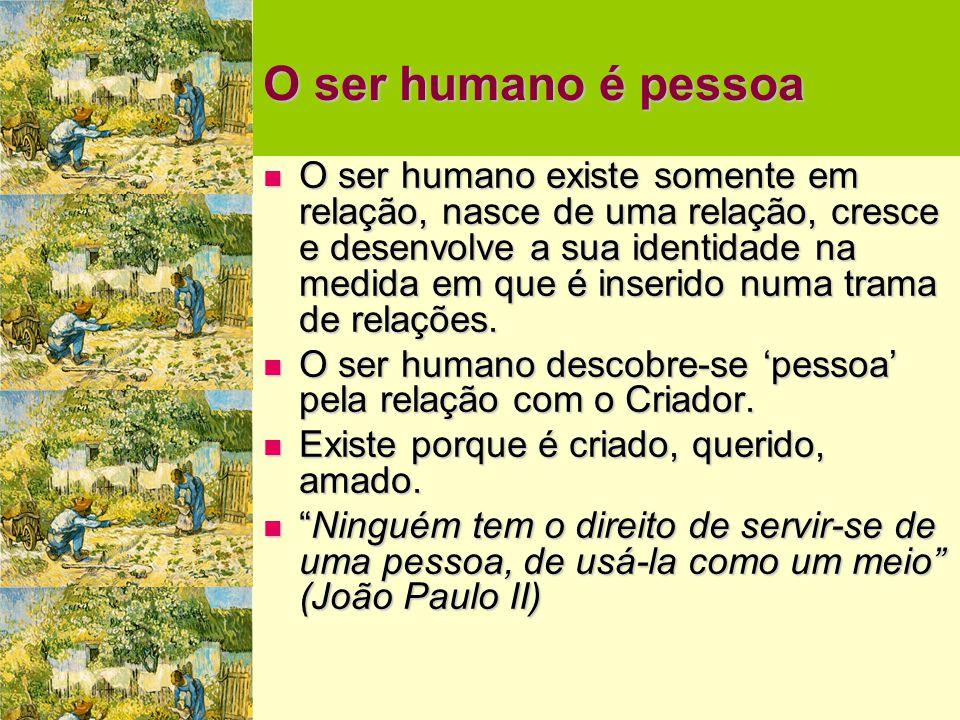 O ser humano é pessoa