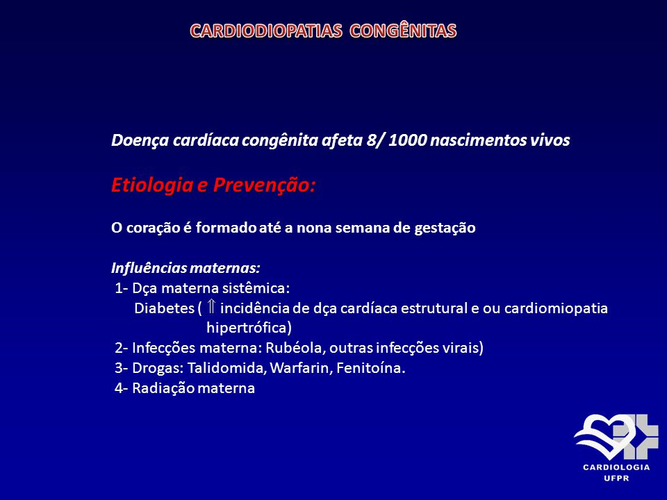 CARDIODIOPATIAS CONGÊNITAS