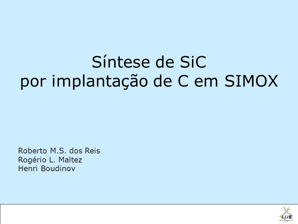 por implantação de C em SIMOX