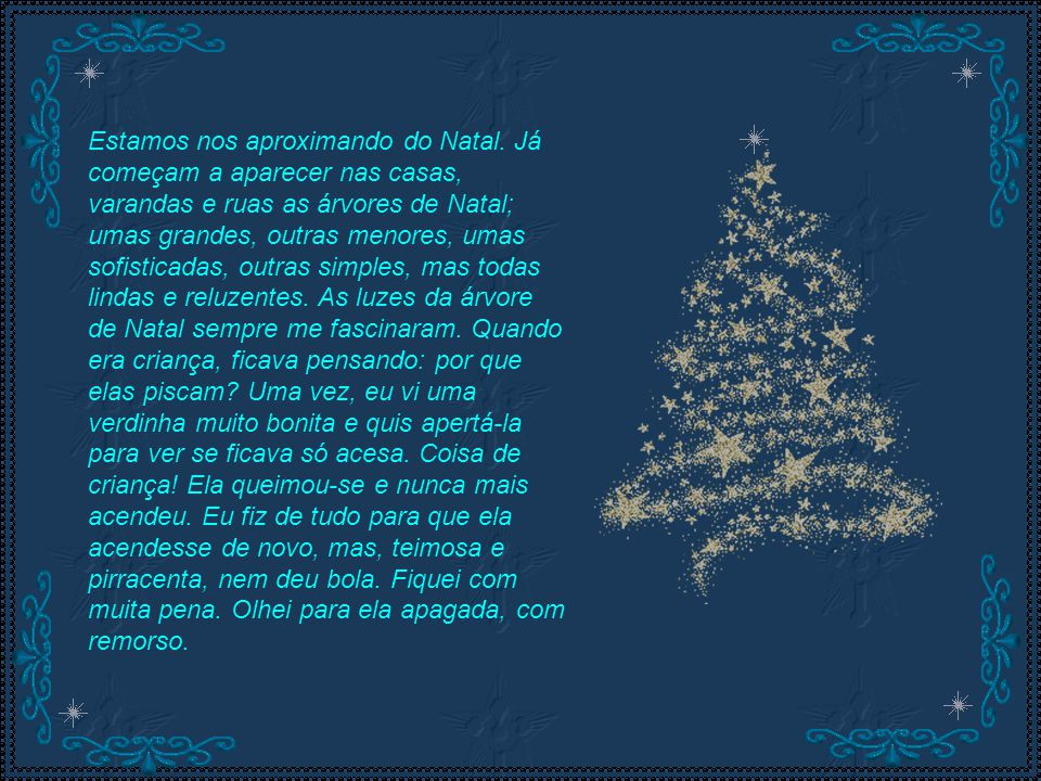 Estamos nos aproximando do Natal