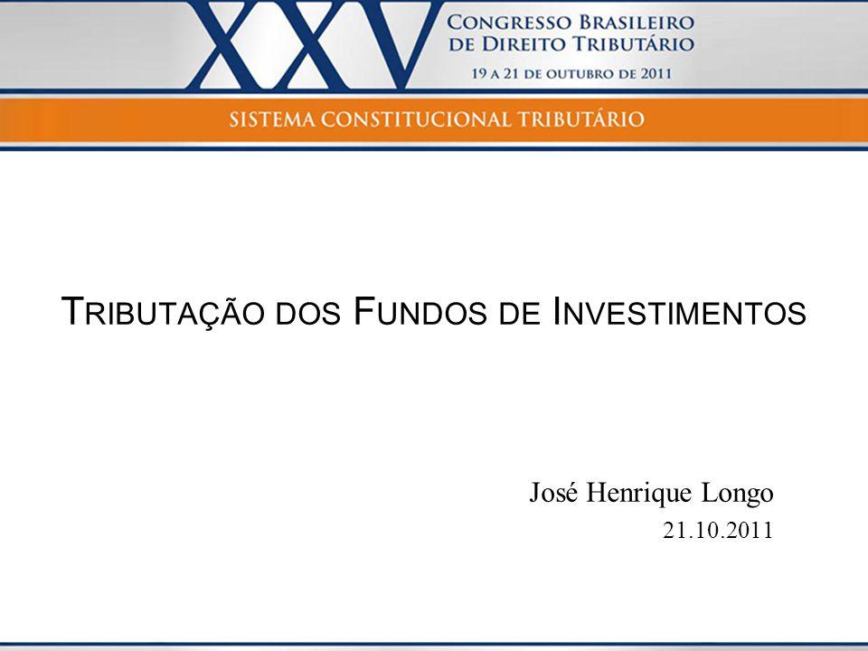Tributação dos Fundos de Investimentos