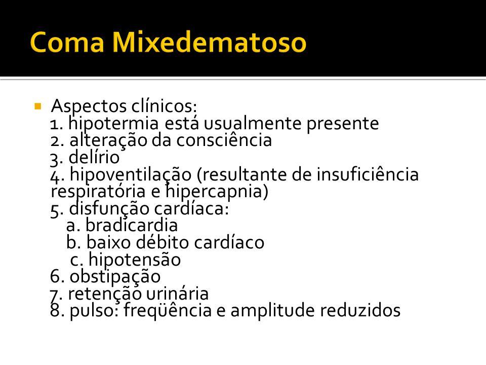 Coma Mixedematoso Aspectos clínicos: