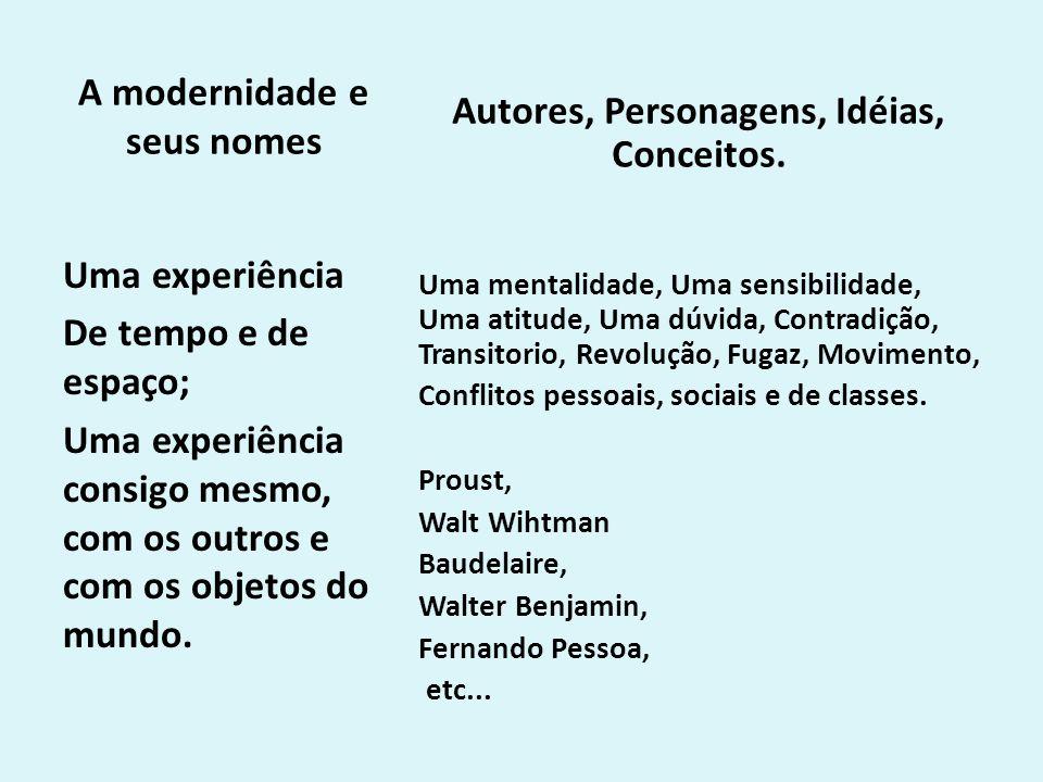 A modernidade e seus nomes