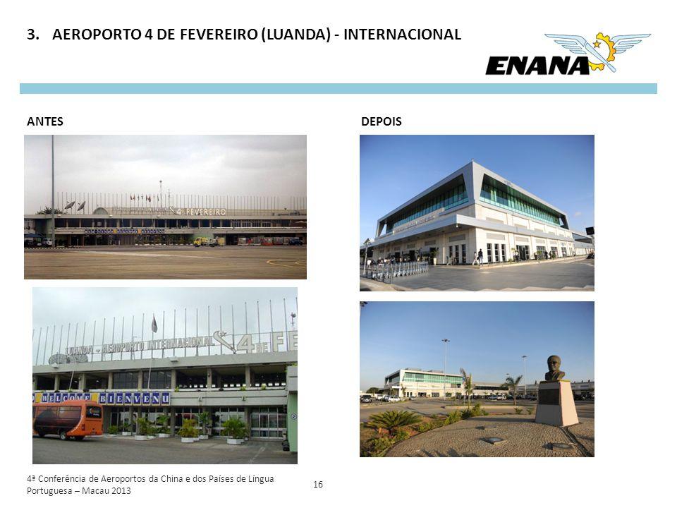 AEROPORTO 4 DE FEVEREIRO (LUANDA) - INTERNACIONAL