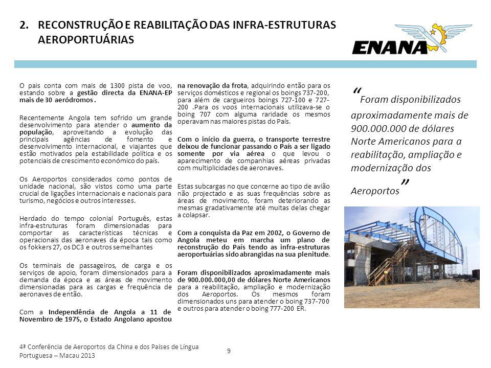 RECONSTRUÇÃO E REABILITAÇÃO DAS INFRA-ESTRUTURAS AEROPORTUÁRIAS