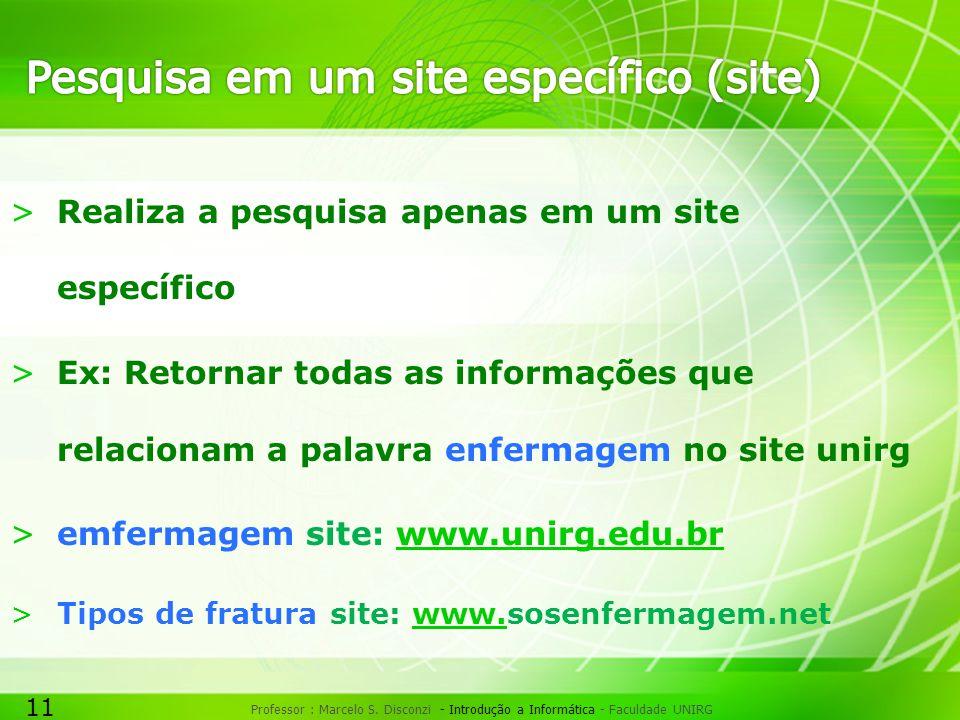 Pesquisa em um site específico (site)