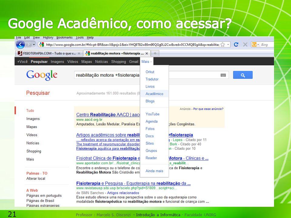 Google Acadêmico, como acessar