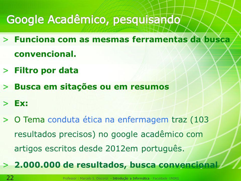 Google Acadêmico, pesquisando