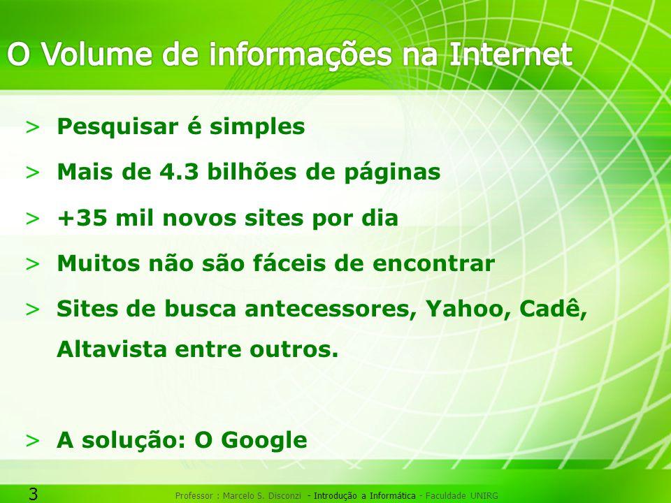 O Volume de informações na Internet