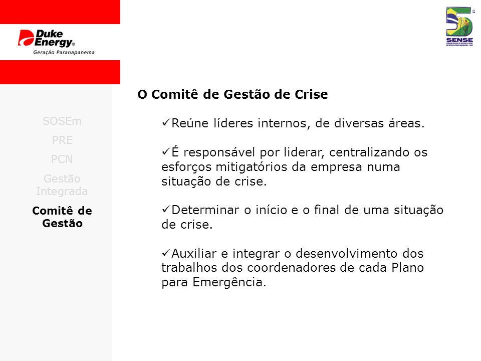 O Comitê de Gestão de Crise Reúne líderes internos, de diversas áreas.