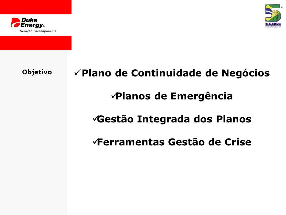 Plano de Continuidade de Negócios Planos de Emergência