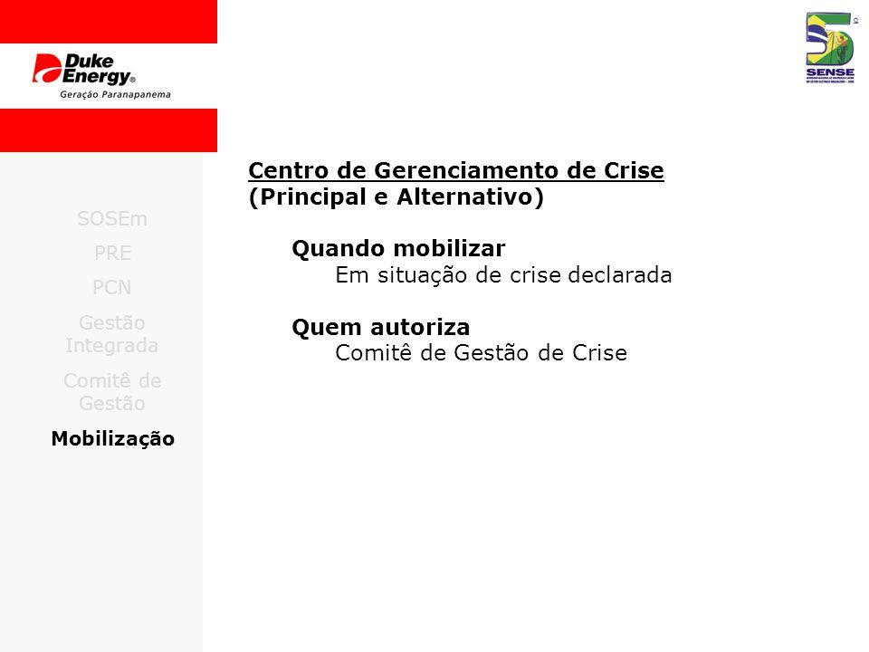Centro de Gerenciamento de Crise (Principal e Alternativo)