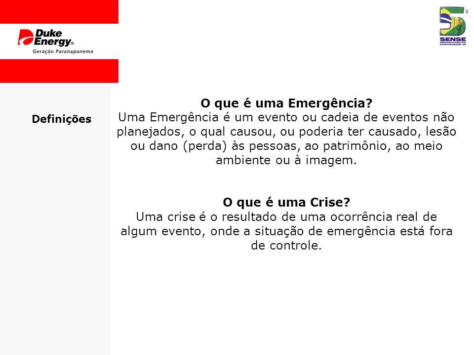 O que é uma Emergência O que é uma Crise