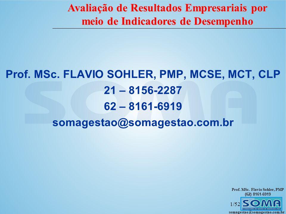 Prof. MSc. FLAVIO SOHLER, PMP, MCSE, MCT, CLP