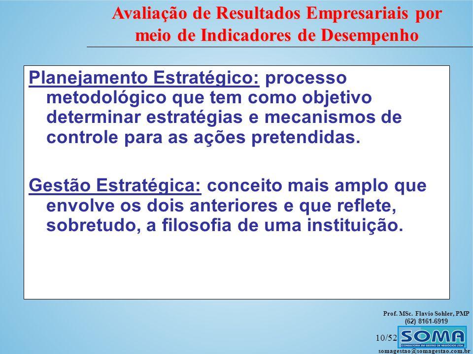 Planejamento Estratégico: processo metodológico que tem como objetivo determinar estratégias e mecanismos de controle para as ações pretendidas.