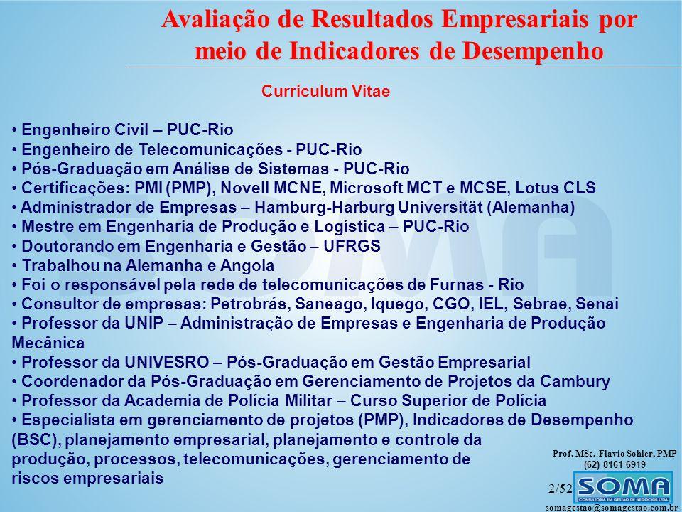 Curriculum Vitae Engenheiro Civil – PUC-Rio. Engenheiro de Telecomunicações - PUC-Rio. Pós-Graduação em Análise de Sistemas - PUC-Rio.