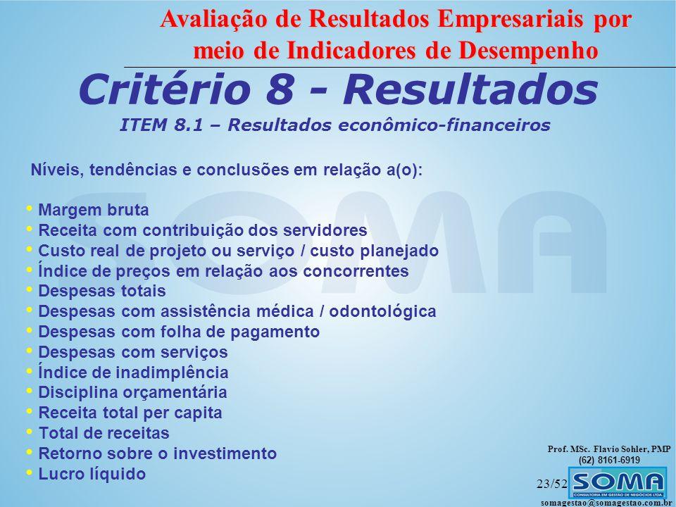 ITEM 8.1 – Resultados econômico-financeiros