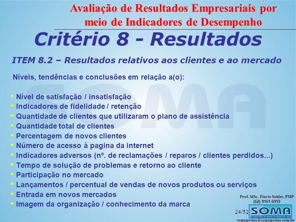 ITEM 8.2 – Resultados relativos aos clientes e ao mercado