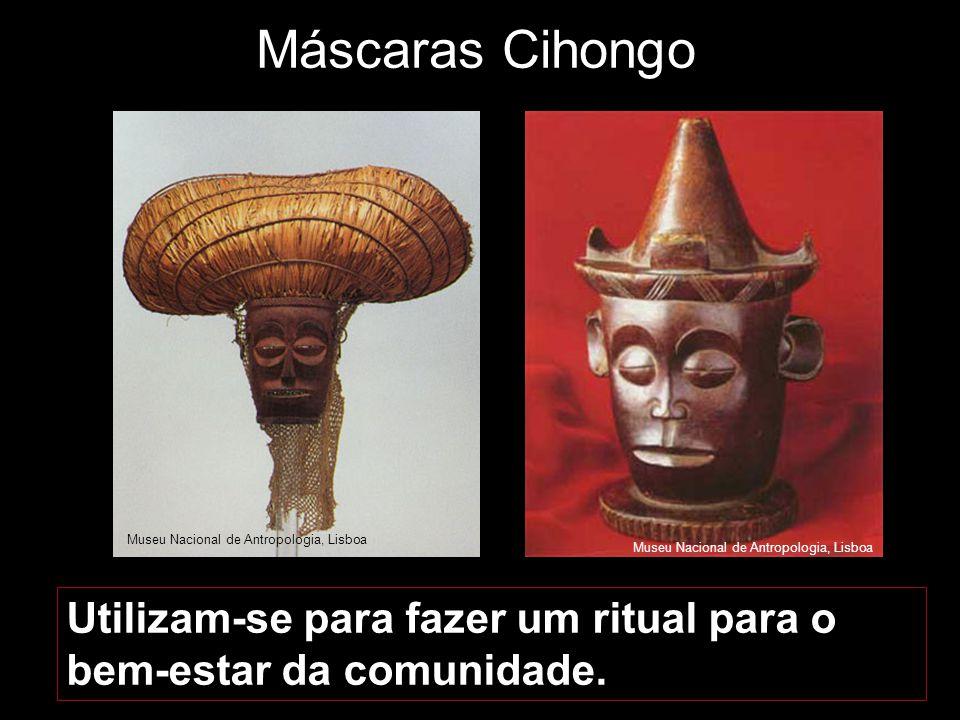 Máscaras Cihongo Museu Nacional de Antropologia, Lisboa. Museu Nacional de Antropologia, Lisboa.