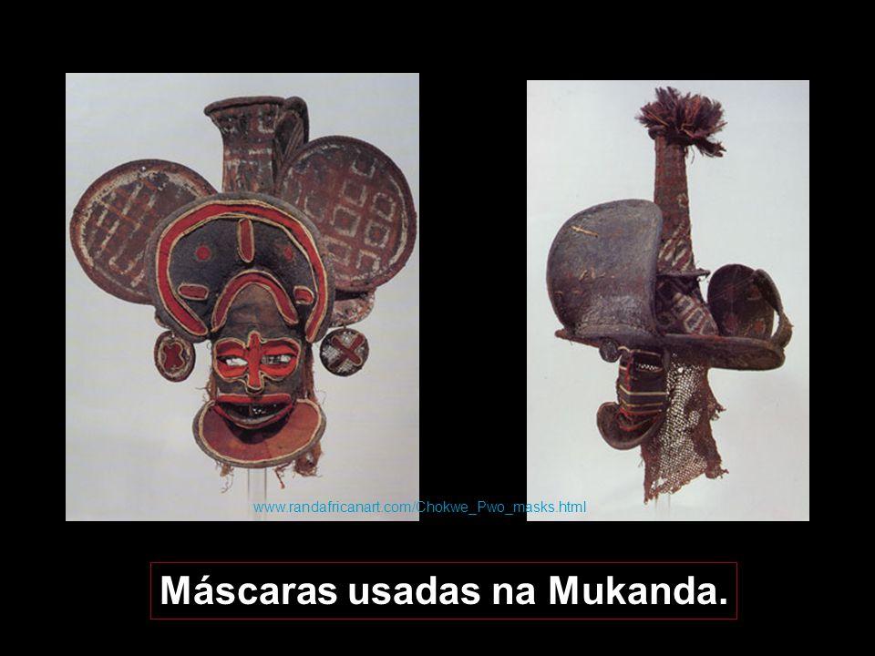 Máscaras usadas na Mukanda.