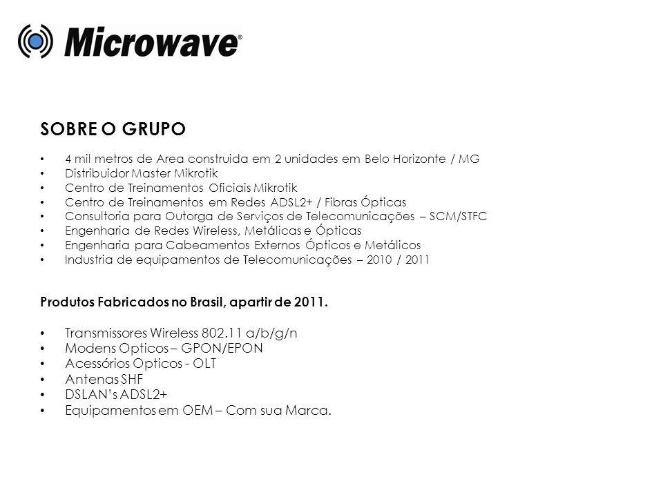 SOBRE O GRUPO Produtos Fabricados no Brasil, apartir de 2011.