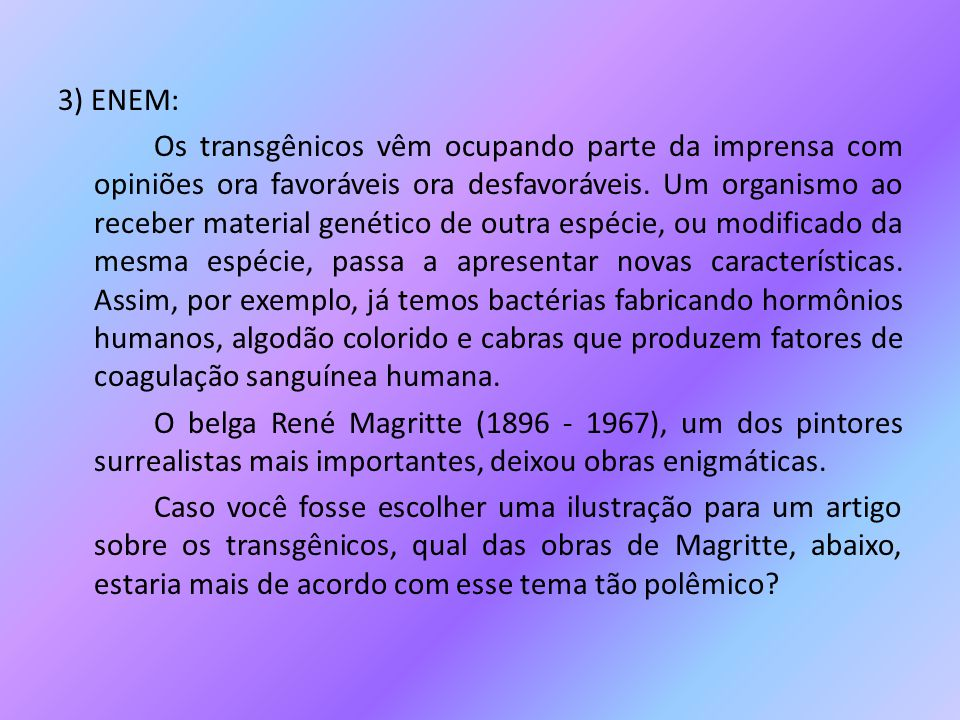 3) ENEM: