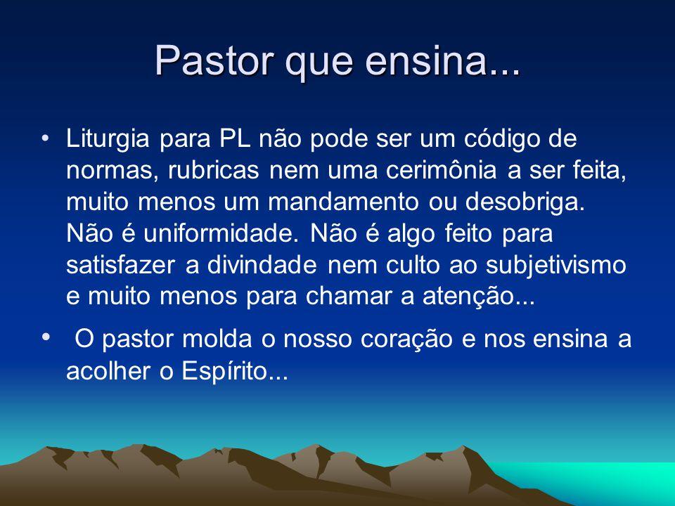 Pastor que ensina...