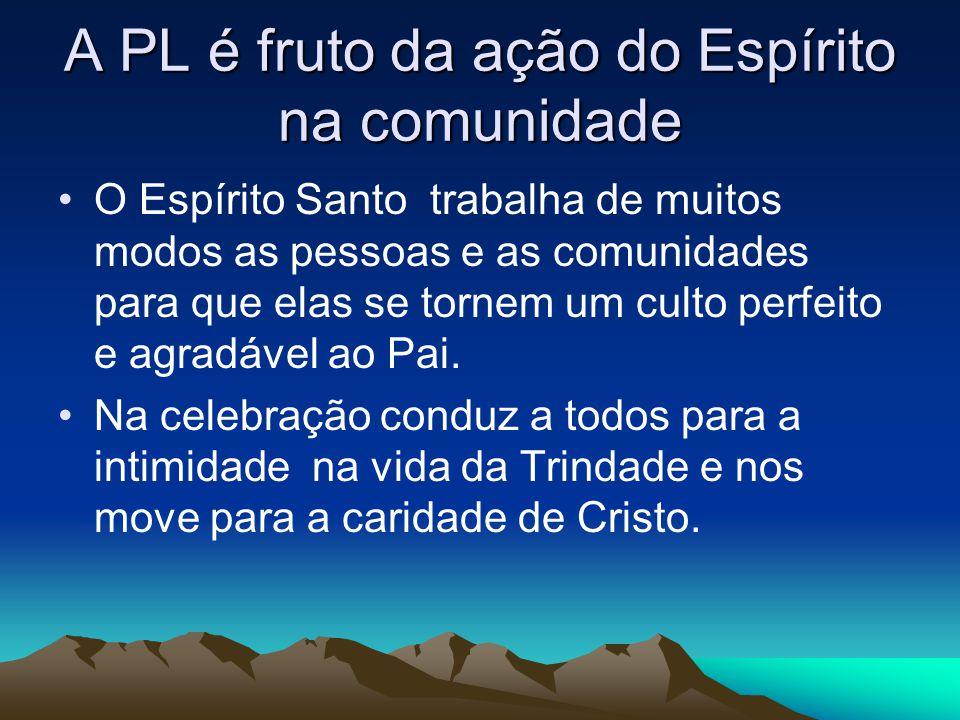 A PL é fruto da ação do Espírito na comunidade