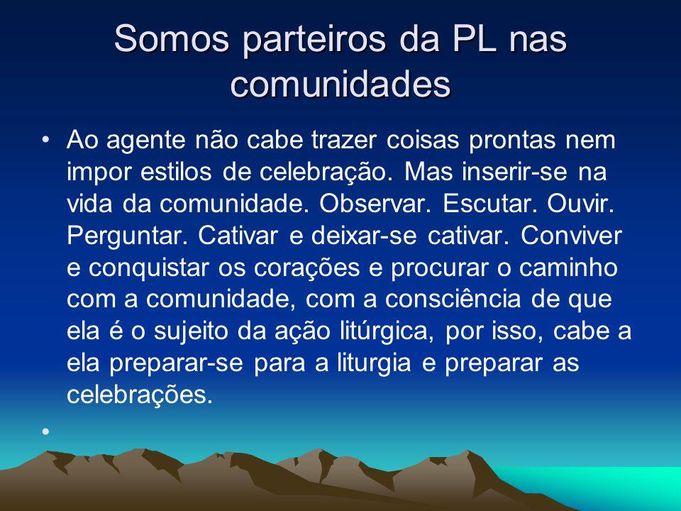 Somos parteiros da PL nas comunidades