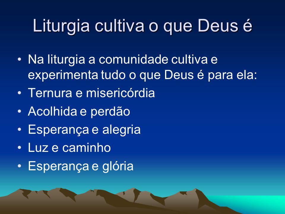 Liturgia cultiva o que Deus é