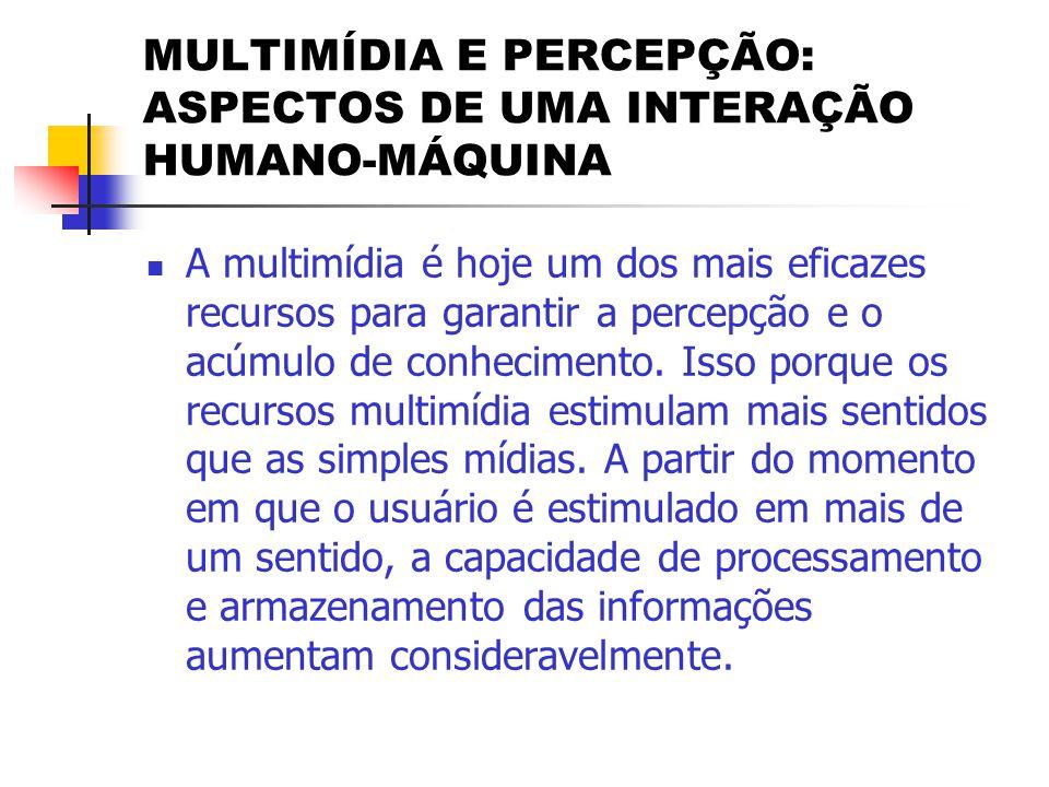 MULTIMÍDIA E PERCEPÇÃO: ASPECTOS DE UMA INTERAÇÃO HUMANO-MÁQUINA